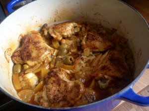 Moroccan chicken with preserved lemons and olives